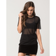 FULL TILT Oversized Mesh Womens Tee