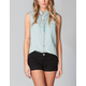 FULL TILT Chambray Womens Top