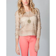 FULL TILT Open Stitch Womens Crop Sweater