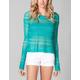 FULL TILT Open Stitch Womens Crop Sweater