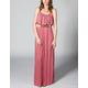 FULL TILT Ruffle Belted Maxi Dress