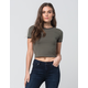 GUSB Solid Womens Ringer Tee