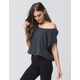 FREE PEOPLE Let It Go Womens Muscle Tee