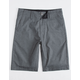 VOLCOM Frickin Static Dark Gray Boys Hybrid Shorts