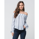 SOCIALITE Striped Off The Shoulder Womens Top
