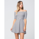 MIMI CHICA Striped Off The Shoulder Dress