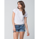 VANILLA STAR Premium Patch Womens Denim Shorts
