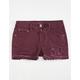 VANILLA STAR Premium Crochet Trim Girls Denim Shorts