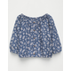 FULL TILT Floral Buttoned Chambray Girls Top