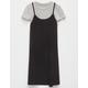 FULL TILT Stripe Rib Girls 2fer Tee Dress