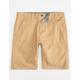 CHARLES AND A HALF Lincoln Stretch Dark Khaki Mens Shorts