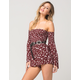 SOCIALITE Smocked Floral Womens Romper