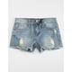 ZCO Mid Rise Ripped Girls Ripped Denim Shorts