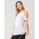 FULL TILT Twisted Cold Shoulder Womens Top