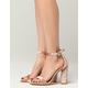 CAPE ROBBIN Velvet Ankle Strap Womens Heels