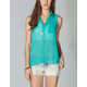 FULL TILT Essential Button Front Chiffon Womens Shirt