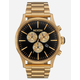 NIXON Sentry Chrono Black & Gold Watch