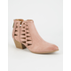 QUPID Novelty Cutout Womens Booties