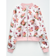 LOVE FIRE Floral Girls Reversible Bomber Jacket