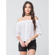 LOVE FIRE Off The Shoulder Poplin Womens Top