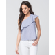 LOVE FIRE Ruffle Stripe Womens Top