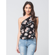 LOVE FIRE Floral One Shoulder Womens Top