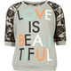 FULL TILT Love Is Beautiful Lace Sleeve Girls Tee