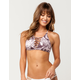FULL TILT High Neck Lace Up Bikini Top