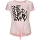 FULL TILT One World One Love Girls Tie Front Tee