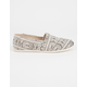 TOMS Tribal Womens Canvas Classic Slip-Ons