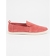TOMS Deconstructed Alpargata Womens Suede Classic Slip-Ons