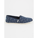 TOMS Glow In The Dark Moon Stars Canvas Classic Slip-Ons