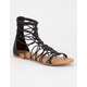 SODA Bungee Cord Zip Back Womens Gladiator Sandals