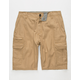 SUBCULTURE Textured Mens Cargo Shorts