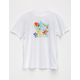 ADIDAS Floral Trefoil Girls Tee