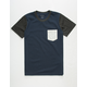 BLUE CROWN Tri Color Boys Pocket Tee