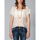 FULL TILT Essential Lace Front Womens Tee