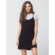 SOCIALITE 2-Fer Rib Stripe Womens Tee Dress
