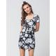 FULL TILT Monochrome Floral Bodycon Dress