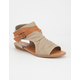 SODA Hooded Buckle Womens Sandals