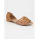 PAPRIKA Peep Toe Flat Womens Sandals