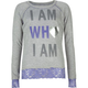 FULL TILT I Am Who I Am Lace Bottom Girls Sweatshirt