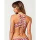 BYRDS OF PARADISE Palm High Neck Bikini Top