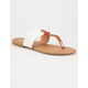 DOLLY MIX Wide Band Thong Womens Sandals