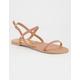 QUPID Skinny 2 Strap Womens Sandals