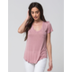 FULL TILT Essential V-Neck Womens Pocket Tee