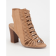 DELICIOUS Braided Cage Womens Heeled Booties