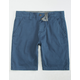 CHARLES AND A HALF Lincoln Stretch Blue Mens Shorts