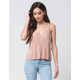 FULL TILT Pleated Womens Cami