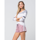SOCIALITE Knit Striped Womens Shorts